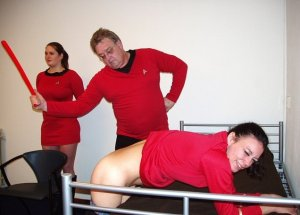 image from Spanked in Uniform via About Spankings